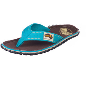 GUMBIES Islander Canvas Thongs brown retro